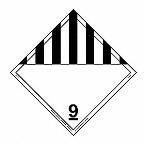 Misc Dangerous Goods Placard,10-3/4inH