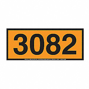 160mm x 400mm Vinyl Panel Placard, Black/Orange
