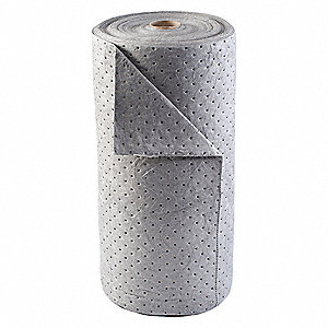 150 ft. Absorbent Roll, Fluids Absorbed: Universal, Light, 25 gal., 1 EA
