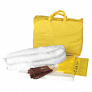 Spill Kit/Station, Bag, Oil-Based Liquids, 5 gal.
