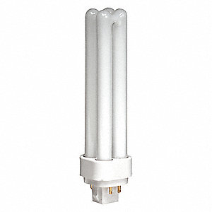 13.0 Watts Plug-In CFL, T4 PL, 4-Pin (G24Q-1), 900 Lumens, 4100K Bulb Color Temp.