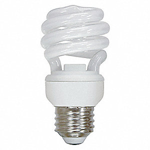 13.0 Watts  Screw-In CFL, T2, Medium Screw (E26), 870 Lumens 2700K Bulb Color Temp.