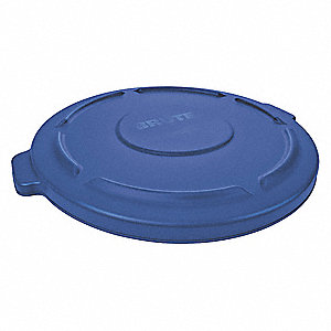 Trash Can Top,Flat,Snap-On Closure,Blue