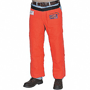 Chain Saw Chaps,Orange