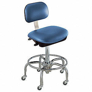 "Upholstered Vinyl Ergonomic Chair with 19"" to 26"" Seat Height Range and 300 lb. Weight Capacity, Roy"