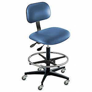 "Vinyl Ergonomic Chair with 22 to 32"" Seat Height Range and 350 lb. Weight Capacity, Royal"