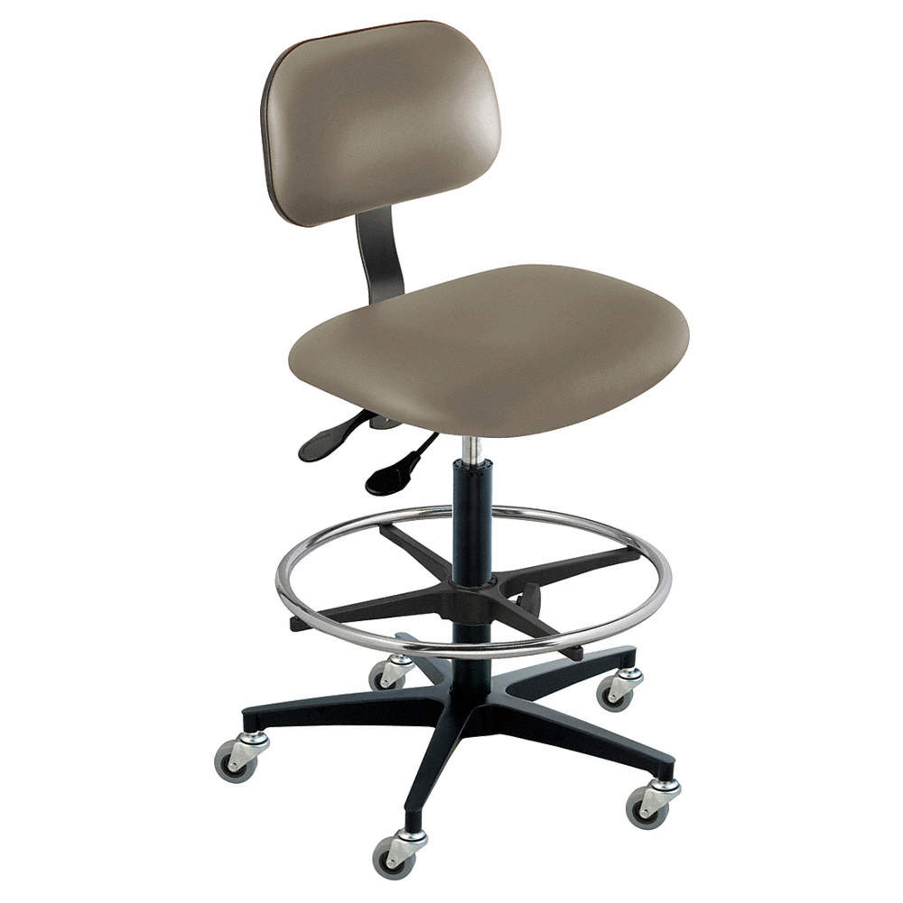 Super Vinyl Ergonomic Chair With 22 To 32 Seat Height Range And 300 Lb Weight Capacity Gray Theyellowbook Wood Chair Design Ideas Theyellowbookinfo