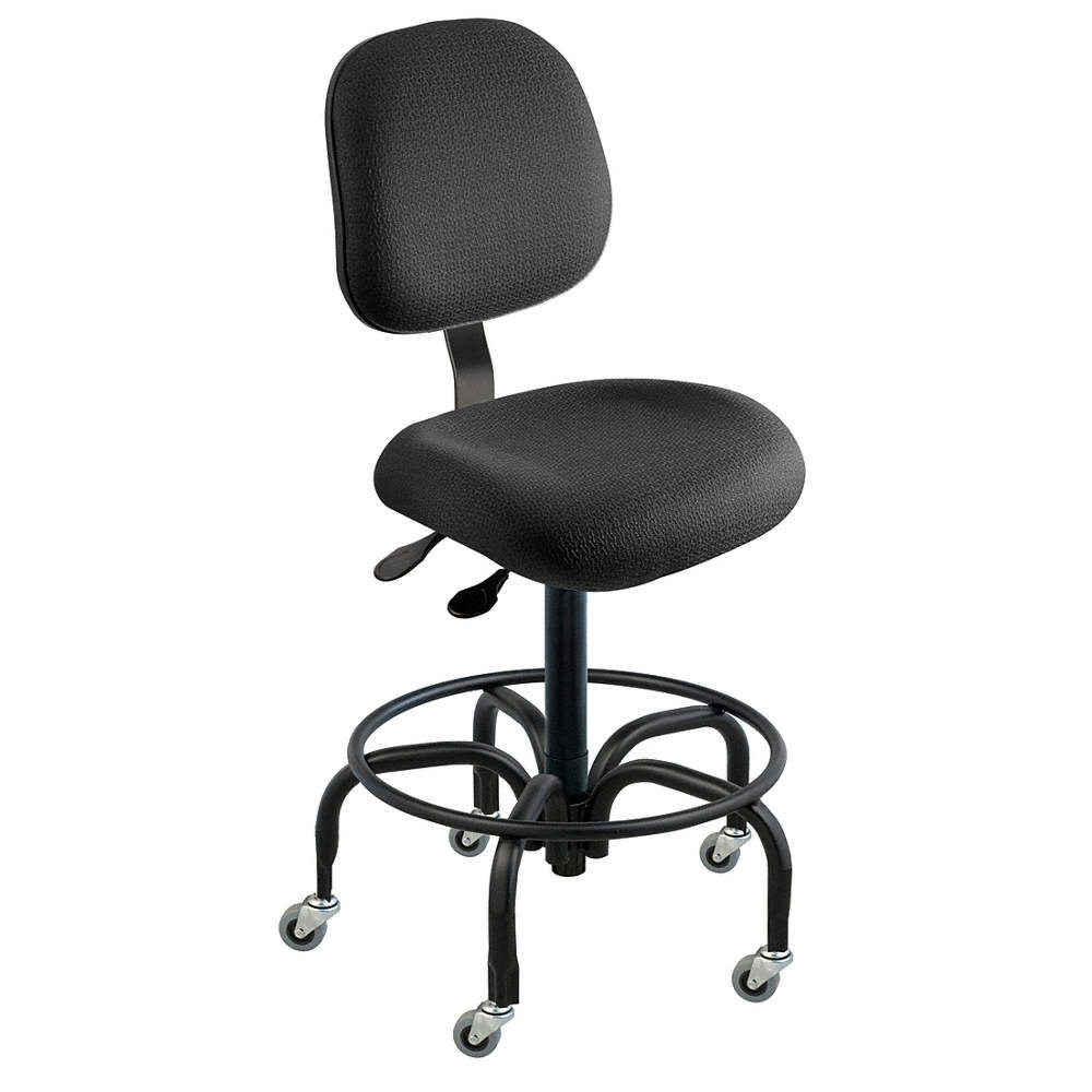 Fantastic Cloth Ergonomic Chair With 19 To 26 Seat Height Range And 300 Lb Weight Capacity Black Ibusinesslaw Wood Chair Design Ideas Ibusinesslaworg