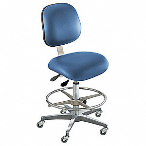 "Upholstered Vinyl Ergonomic Chair with 22 to 32"" Seat Height Range and 350 lb. Weight Capacity, Roya"