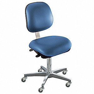 "Upholstered Vinyl Ergonomic Chair with 17"" to 22"" Seat Height Range and 300 lb. Weight Capacity, Roy"