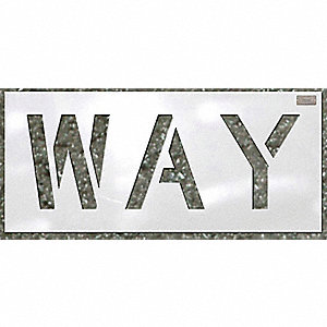 "Stencil, Way, 96"", Low Density Polyethylene, 1 EA"