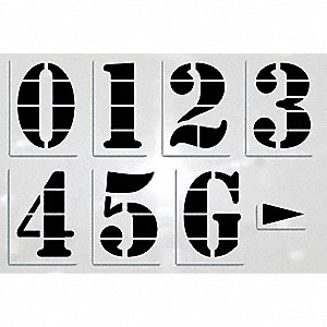 "Stencil, Football Numerals, 72"", Low Density Polyethylene, 1 EA"