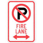 No Parking Fire Lane Signs (With Double Arrow)