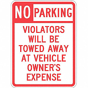 "Parking, No Header, Recycled Aluminum, 24"" x 18"", With Mounting Holes, Top/Bottom Centered"