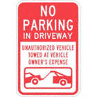 No Parking In Driveway Unauthorized Vehicles Will Be Towed At Owners Expense Signs