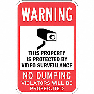 Property Sign,No Dumping,18 In 12 In