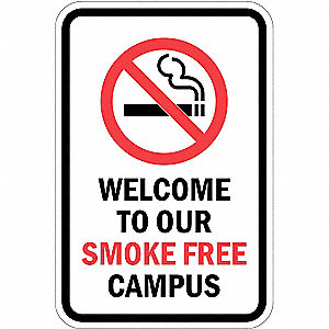 Property Sign,Smoke Free ,18 In 12 In