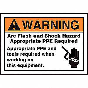 Label,3-1/2x5,Warning Arc Flash and