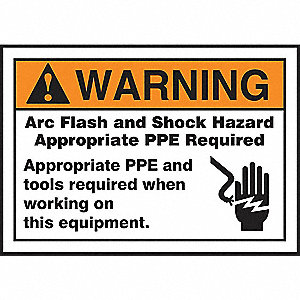 Label, 7x10, Warning Arc Flash and