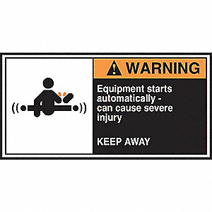 Label,CEMA,2-1/2x5,Warning Equipment,PK5