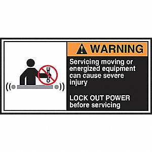 Label,CEMA,2-1/2x5,Warning Servicing,PK5