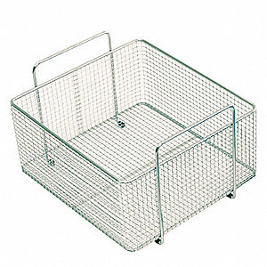 "10-1/5"" x 8-3/10"" x 3-3/10"" Stainless Steel Basket"