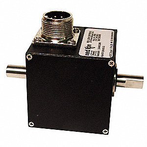 "3/8""-dia. 4.75 to 28VDC Cube Encoder, 6000 RPM Max., Quadrature Output Type"