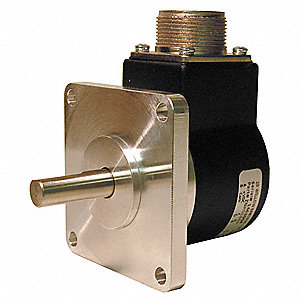 "3/8""-dia. 4.75 to 28VDC Encoder, 8000 RPM Max., Quadrature Output Type"