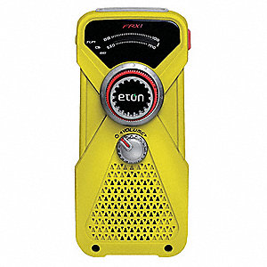 Portable Weather Radio, Yellow, AM/FM, NOAA