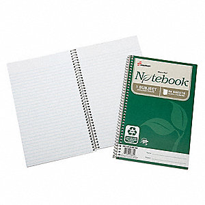 Spiral Bound Notebook,6inx9-1/2in,PK3