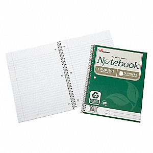 Spiral Bound Notebook,Wide,PK3