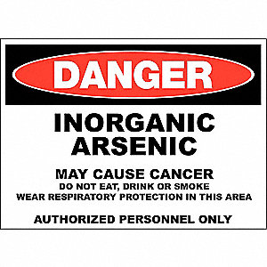 Danger Sign,10x14 In,R and BK/WHT,ENG