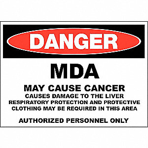 "Chemical, Gas or Hazardous Materials, Danger, Aluminum, 10"" x 14"", Surface"