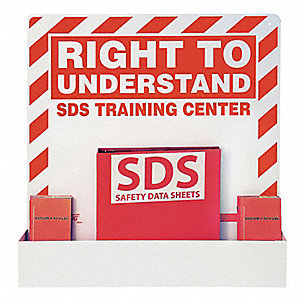 "SDS Right To Understand Station, Recycled Aluminum, 23-1/4"" x 27-1/2"", 1 EA"