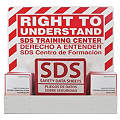 SDS Right To Understand Station, Recycled Aluminum, 23-1/4