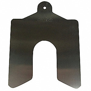 Slotted Shim,2x2 Inx0.005In,PK20