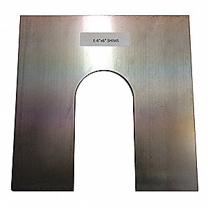 "Stainless Steel Slotted Shim, 0.0030"" Thickness, Trade Size: E"