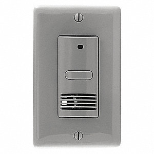 Wall Switch Box Hard Wired Motion Sensor, 400 sq. ft. Ultrasonic, Gray