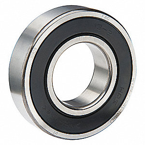 Radial Ball Bearing, Sealed Bearing Type, 35mm Bore Dia., 80mm Outside Dia.