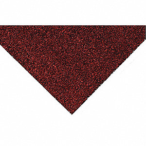 "Indoor Entrance Mat, 8 ft. L, 4 ft. W, 5/16"" Thick, Rectangle, Burgundy"
