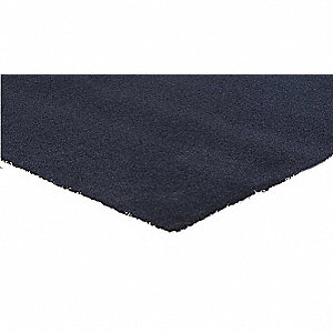 "Indoor Entrance Mat, 3 ft. L, 24"" W, 5/16"" Thick, Rectangle, Navy"