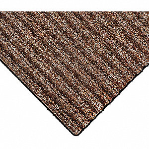 "Indoor Entrance Mat, 60 ft. L, 6 ft. W, 3/8"" Thick, Rectangle, Brown"