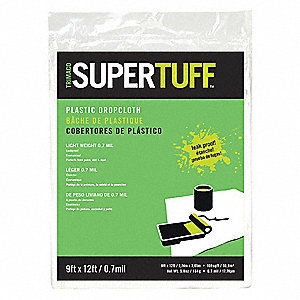 Drop Cloth,LDPE,9 ft.L,0.7 mil