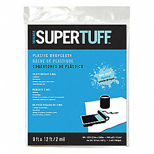 Drop Cloth, LDPE, Clear, 9 ft.L, 2 mil