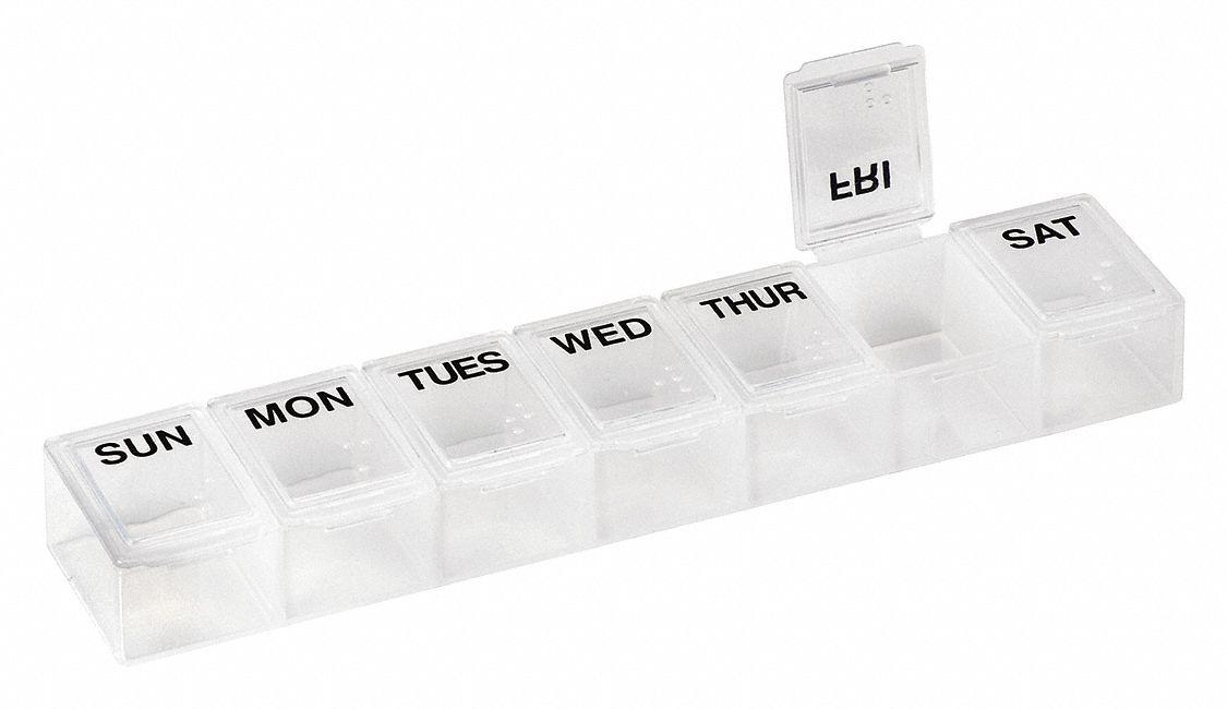 Pill Holder, Clear, Plastic