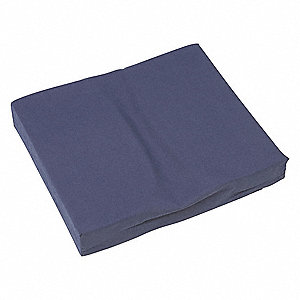 "16"" x 18"" x 3"" Polyester/Cotton Seat Cushion, Navy"