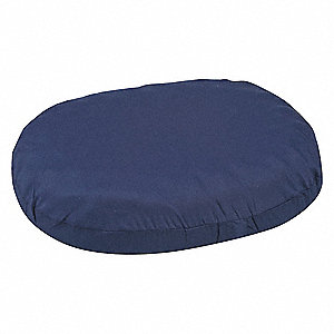 "16"" x 13"" x 3"" Polyester/Cotton Ring Cushion, Navy"