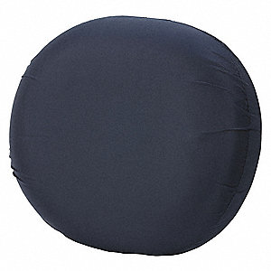 "14"" x 12-1/2"" x 3"" Polyester/Cotton Ring Cushion, Navy"
