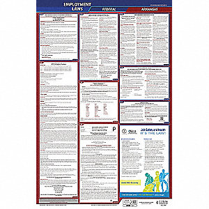 Labor Law Poster, AR Federal and State Labor Law, English