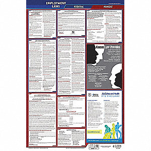 Labor Law Poster, KS Federal and State Labor Law, English, None